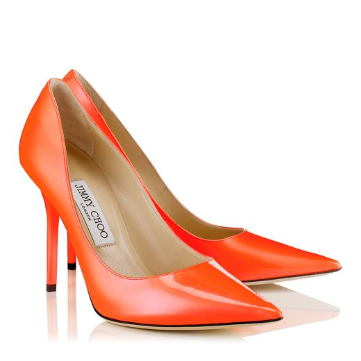 Jimmy Choo Spring/Summer 2014 - Abel in Neon Flame Patent Leather