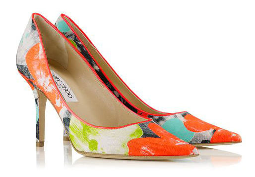 Jimmy Choo Spring/Summer 2014 -  Agnes in Orchid Print Canvas