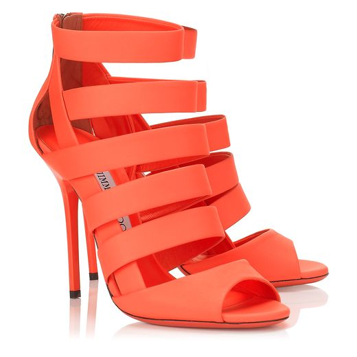 Jimmy Choo Spring/Summer 2014 - Damsen in Neon Flame