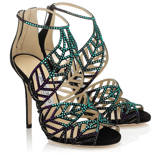 Jimmy Choo Spring/Summer 2014 - Kallai in Blue Bottle Crystal