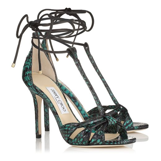 Jimmy Choo Spring/Summer 2014 -  Motive in Emerald Printed Elaphe