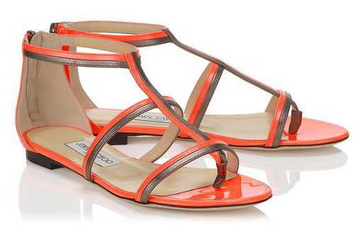 Jimmy Choo Spring/Summer 2014 - Tabitha in Neon Flame Patent Leather