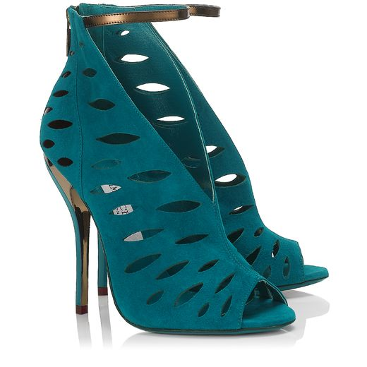 Jimmy Choo Spring/Summer 2014 - Tamber in Blue Bottle Suede