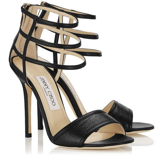 Jimmy Choo Spring/Summer 2014 -  Tolka in Black Nappa Leather and Stingray