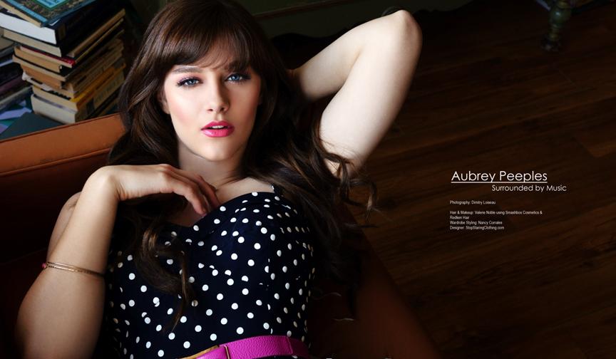 Behind The Scenes Aubrey Peeples