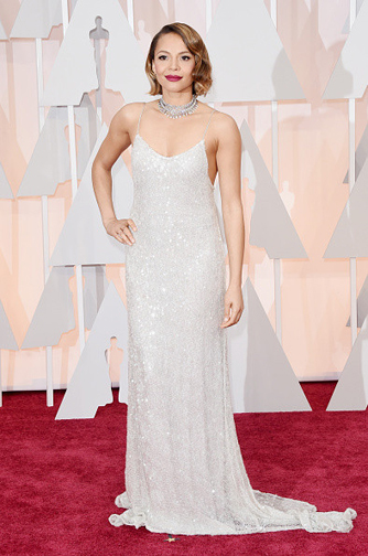 Carmen Ejojo in a Houghton Gown at the Oscars 2015