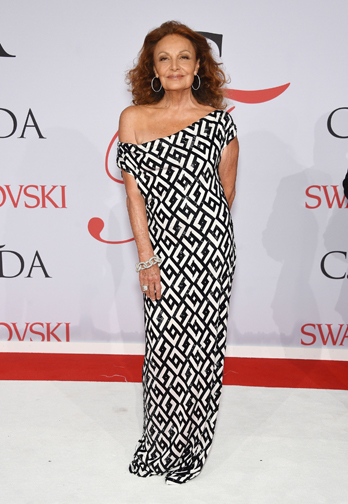 Deigner Diane von Furstenberg  at the CFDA Awards 2015 (Getty Image)