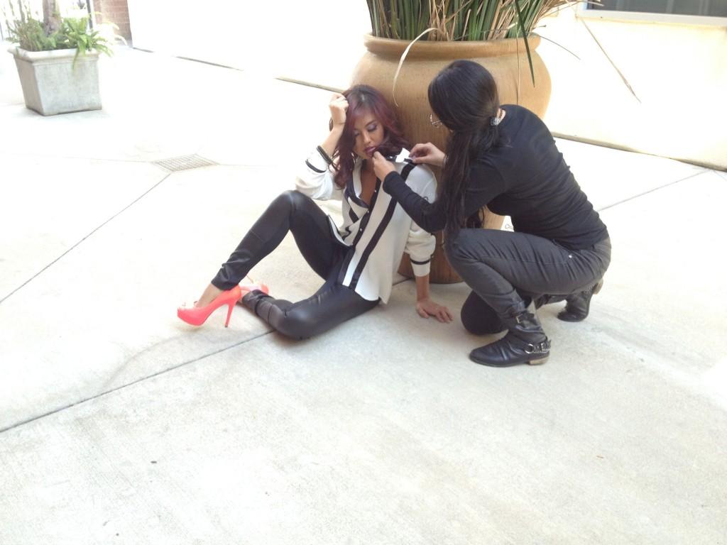 Stylist Nancy and Agnez Mo for RegardMag.com Dec 2013
