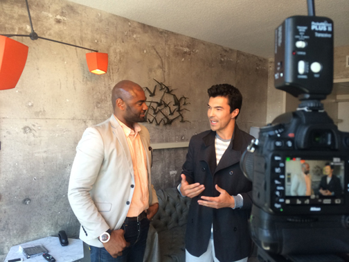 BTS with Dimitry and Ian Anthony Dale 2 for RegardMag.com June 2014