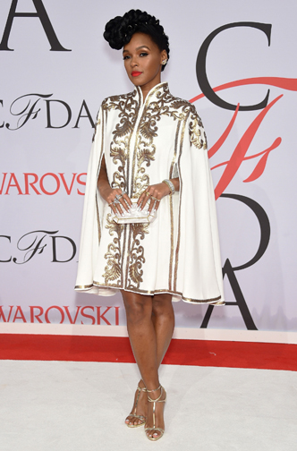 Singer, Janelle Monae in Tadashi at the CFDA Awards 2015 (Getty Image)