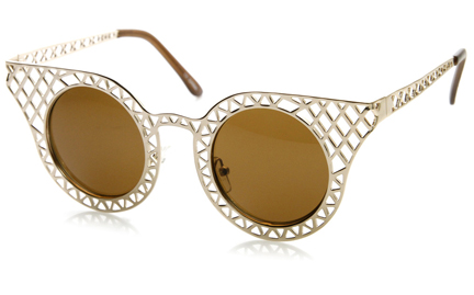Laser Cut Metal Criss Cross shades $15