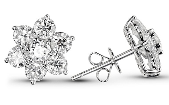 Leon's of Beverly Hills, Snowflakes Diamond Earrings
