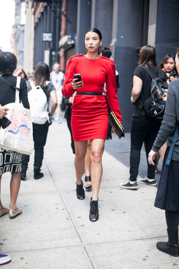 Lily Kwong at Fashion Week New York for Spring 2014