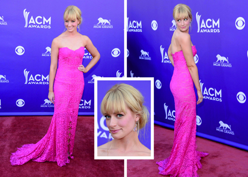 Beth Behrs at the 2013 ACM Awards