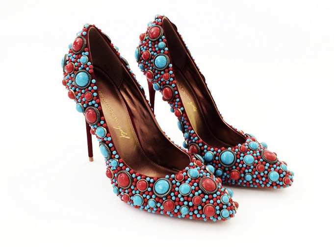 Christian Siriano Multi-Color Beaded Pump
