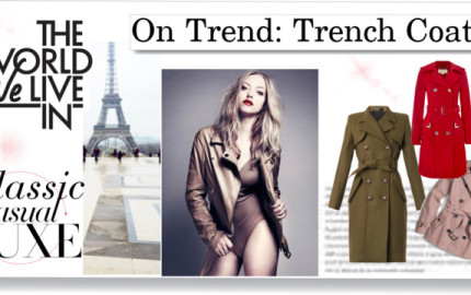 On Trend- Trench coats featured