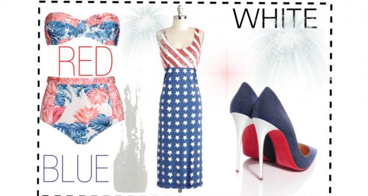 Regard Magazine red, white and blue
