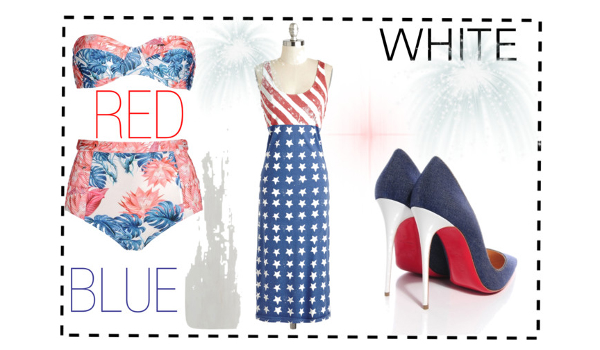 Regard Magazine red, white and blue