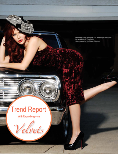 Trend Report with RegardMag.com Issue 17 featuring Renee Olstead in designs by Bettie Page