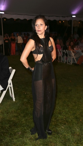 Lady Gaga  at The 2013 Watermill Center Benefit