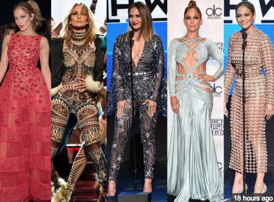 Jennifer Lopez at the 2015 AMA Awards