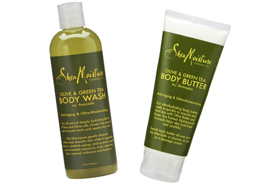 SheaMoisture Olive & Green Tea Body Wash and Body Butter $8.99 each