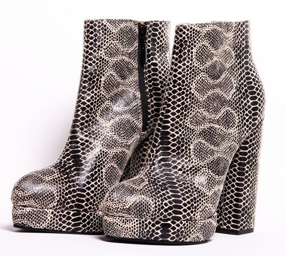 Christian Siriano Snake Bootie