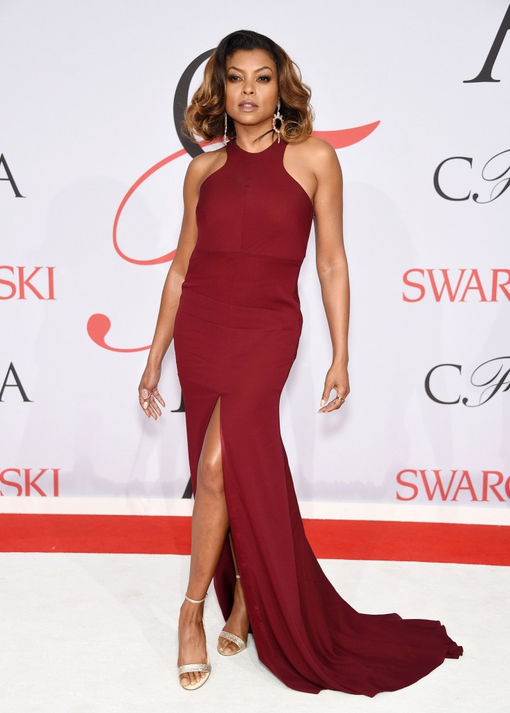Taraji P. Henson in Vera Wang  at the CFDA Awards 2015 (Getty Image)
