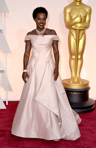 Viola Davis in a dazzling Zac Posen gown at the Oscars 2015
