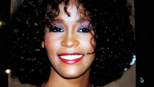 Makeup reference shot of Whitney Houston.