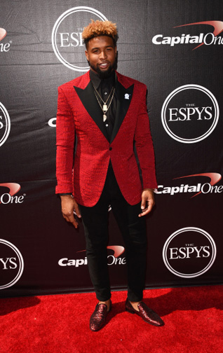 Odell Beckham Jr. at The 2015 ESPYS (Photo by Jason Merritt/Getty Images)