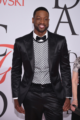 Dwyane Wade  at the CFDA Awards 2015 (Getty Image)