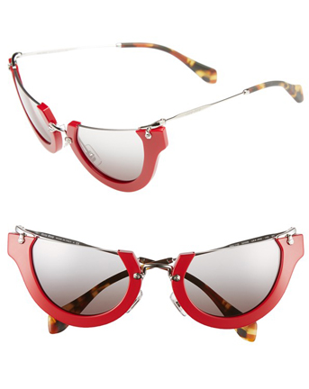 Miu Miu Rimless cat eye shade. $415