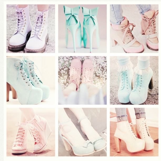 Pastel Goth Shoes